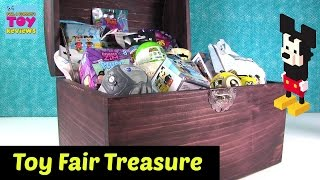Toy Fair Treasure Chest Unboxing Hatchimals Disney Emoji Slither.io | PSToyReviews
