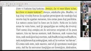 42 | La Sotesana Instruo de Ŭonbulismo | 에스페란토 원불교 대종경 공부 (zoom)
