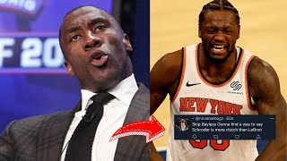 NBA WORLD REACTS TO KNICKS WIN OVER SPURS! Julius Randle Drops 25 Points!