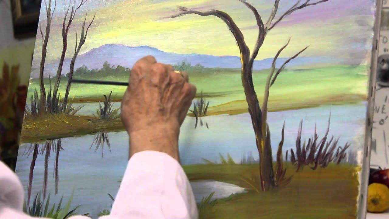 30 dibujo y pintura paisaje al leo 3 de 3 youtube for Imagenes de cuadros abstractos faciles