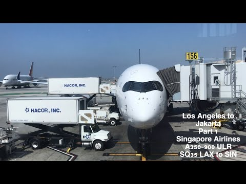 Los Angeles To Jakarta Part 1 Singapore Airlines Premium Economy A350ULR Flight Report SQ35 LAX-SIN