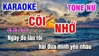 Karaoke | Cõi Nhớ | Nhạc Sống Tone Nữ Am Dễ Hát | Karaoke Thanh Hải