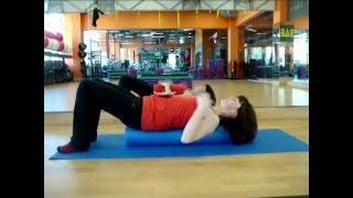 Использование Ролла в фитнес тренировке с Мариной Быковой.