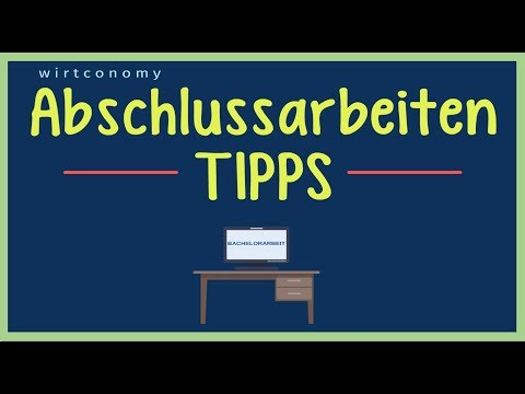 Abschlussarbeiten Schreiben | Die 5 Besten Tipps | Bachelor- Oder Masterarbeit