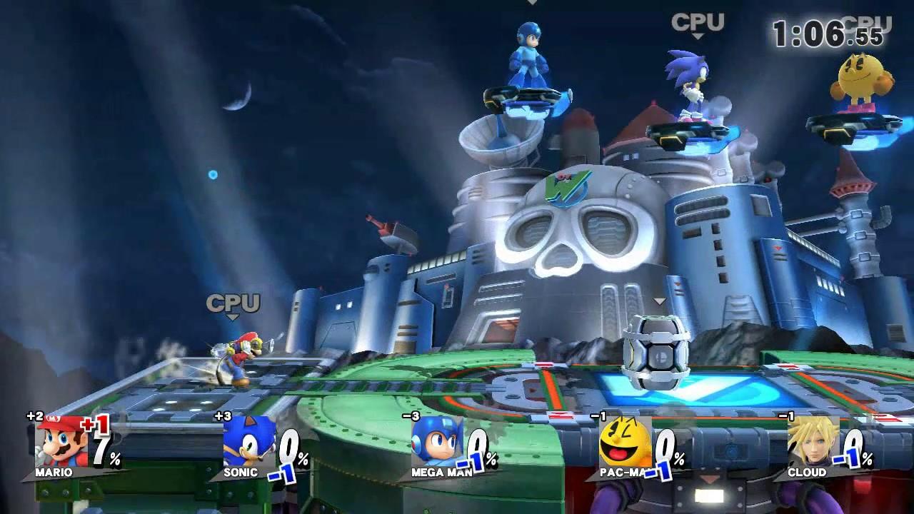 Mario Vs Sonic Vs Megaman Vs Pacman Super Smash Bro...