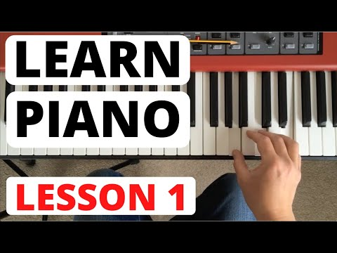 Piano for Beginners, Lesson 1    The Piano Keyboard