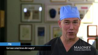 PRK: Can I wear contact lenses after surgery?