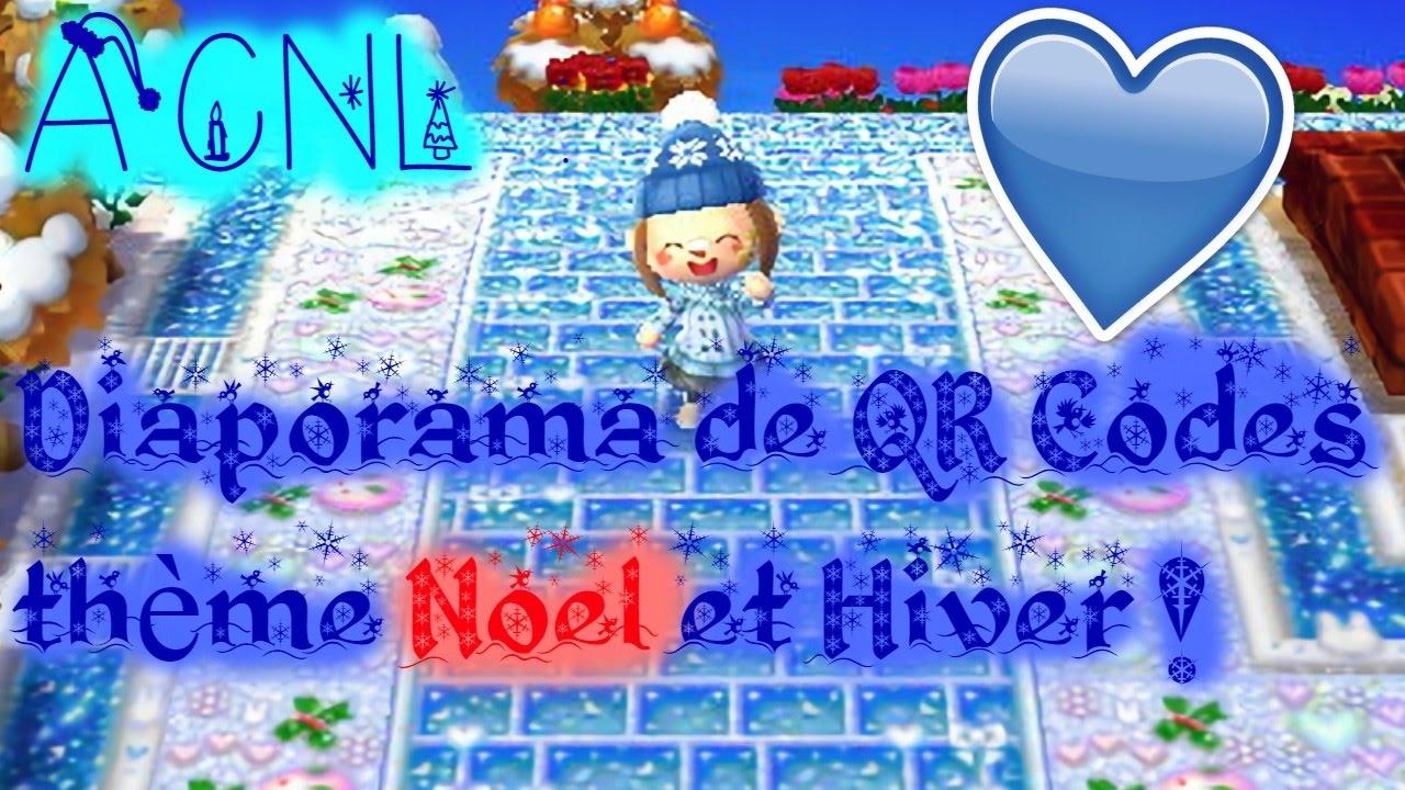 ACNL : QR Codes thème HIVER et NOEL ! - YouTube