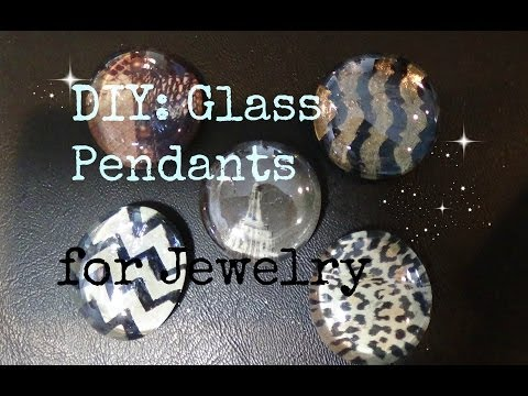 FASHION DIY: Glass Nail Polish Gems #2! Chevron w/ tape, Magazine Pictures Ect...