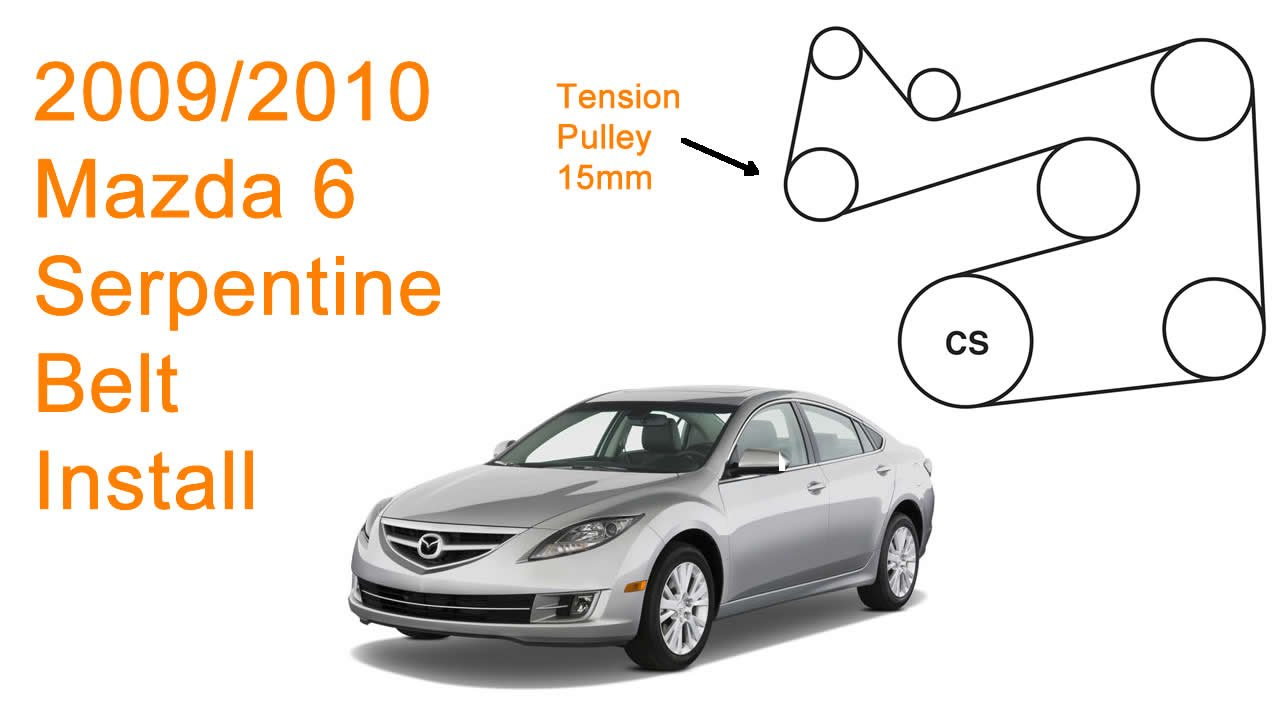 hight resolution of 2011 mazda 1 5 engine diagram wiring diagram centre 2009 2010 mazda 6 serpentine belt replacement