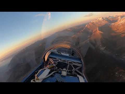 Jet Flight in the Swiss Alps - timelapse HD