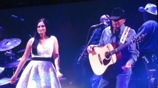 George Strait & Kacey Musgraves - I Just Want To Dance With You/2016/Las Vegas/DEC 3/T-Mobile Arena