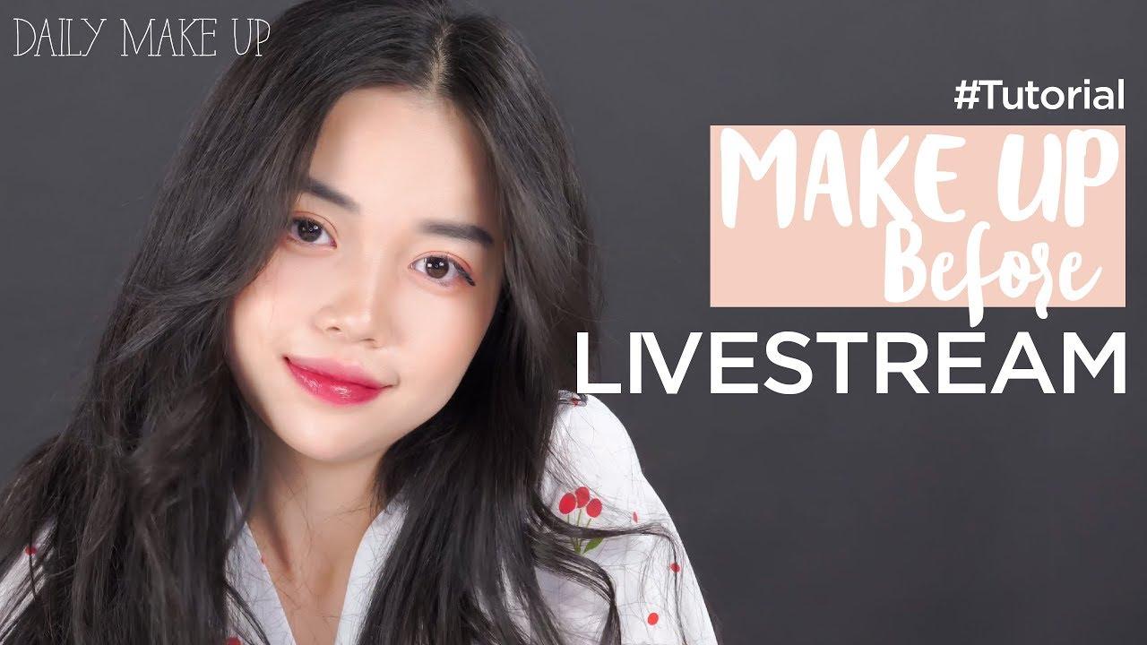 LINH NGỌC ĐÀM hướng dẫn make up trước khi LIVESTREAM | My Daily Routine
