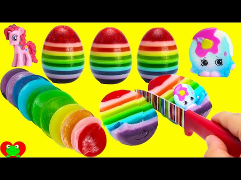 How to Make Rainbow Gummy Surprise Eggs