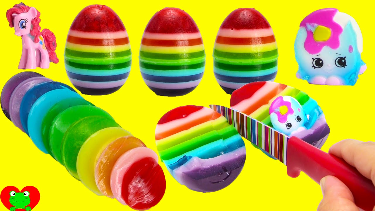 how to make rainbow gummy surprise eggs youtube