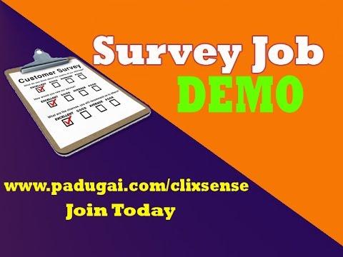 Survey Job demo - Online Work Survey Deom