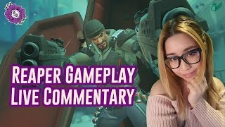 Overwatch Reaper Gameplay - Female Overwatch Team - Live Commentary
