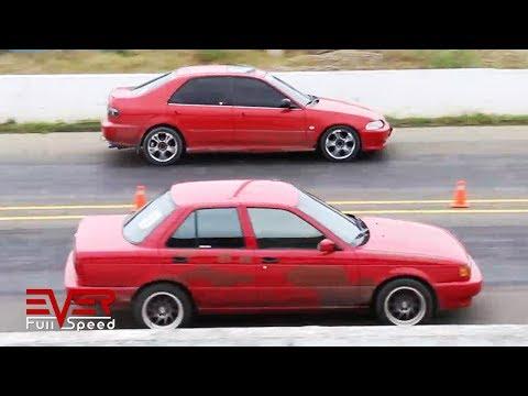 Honda Civic vs Nissan Sentra (Tsuru) | Drag Races