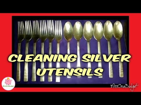 Cleaning Silver Utensils with BAKING SODA ❤️ MissOnaBudget