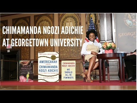 Chimamanda Ngozi Adichie on Feminism, addressing recent transgender video, book signing, etc.