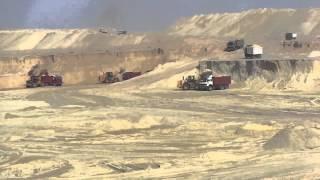 قناة السويس الجديدة: مشهد عام للحفر الجمعة 17أكتوبر 2014 ورفع 64مليون متر مكعب رمال