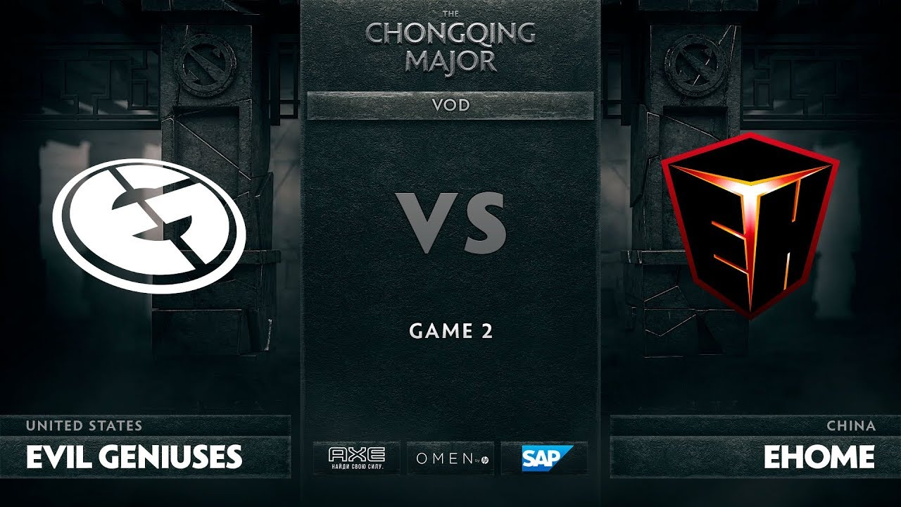 [EN] Evil Geniuses vs EHOME, Game 2, The Chongqing Major LB Round 4