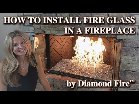 How to Install Fire Glass in a Fireplace by Diamond Fire Glass™