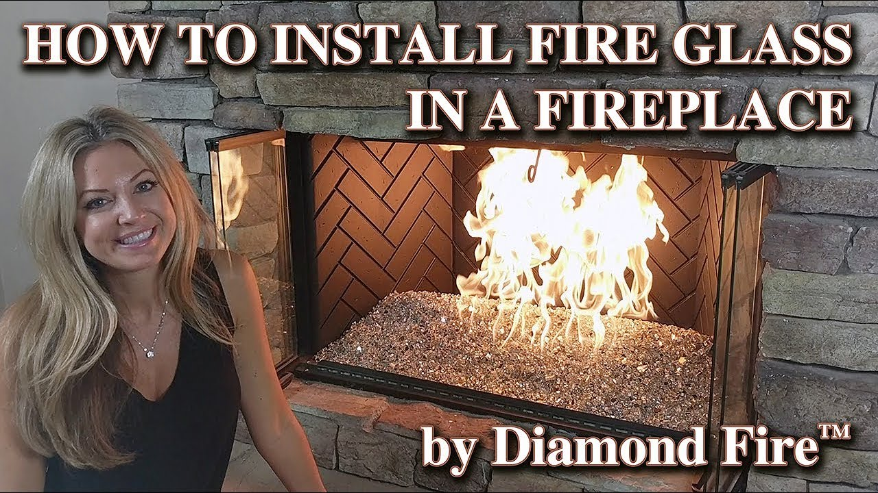 How To Install Fire Glass In A Fireplace By Diamond Fire Glass