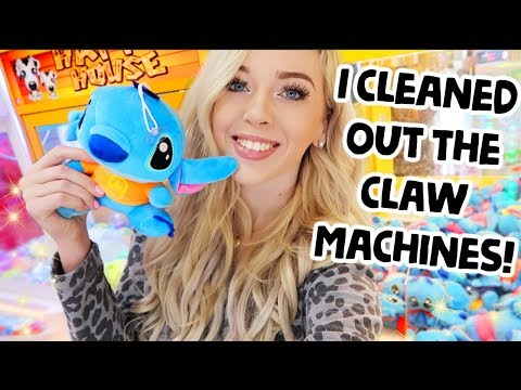 CLEANING OUT THE CLAW MACHINES AT NEOFUNS ARCADE!?!