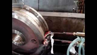 Индукционная закалка крановых колес(Индукционная закалка крановых колес.Подробности на сайте: www.mosinductor.ru/ Компания