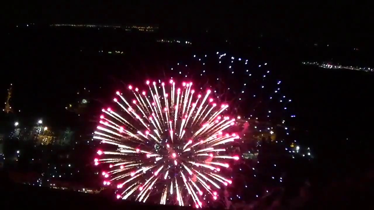 stone mountain fireworks from top mountain youtube
