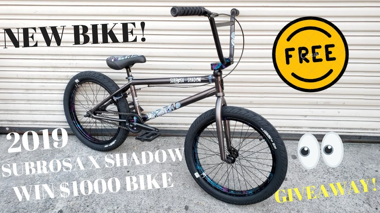 FREE $1000 2019 SUBROSA X SHADOW BIKE WIN GIVEAWAY! TUESDAY NEW BIKES DAY!