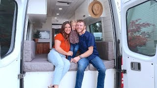family of 3 lives in tiny home on wheels | FAMILY VAN TOUR