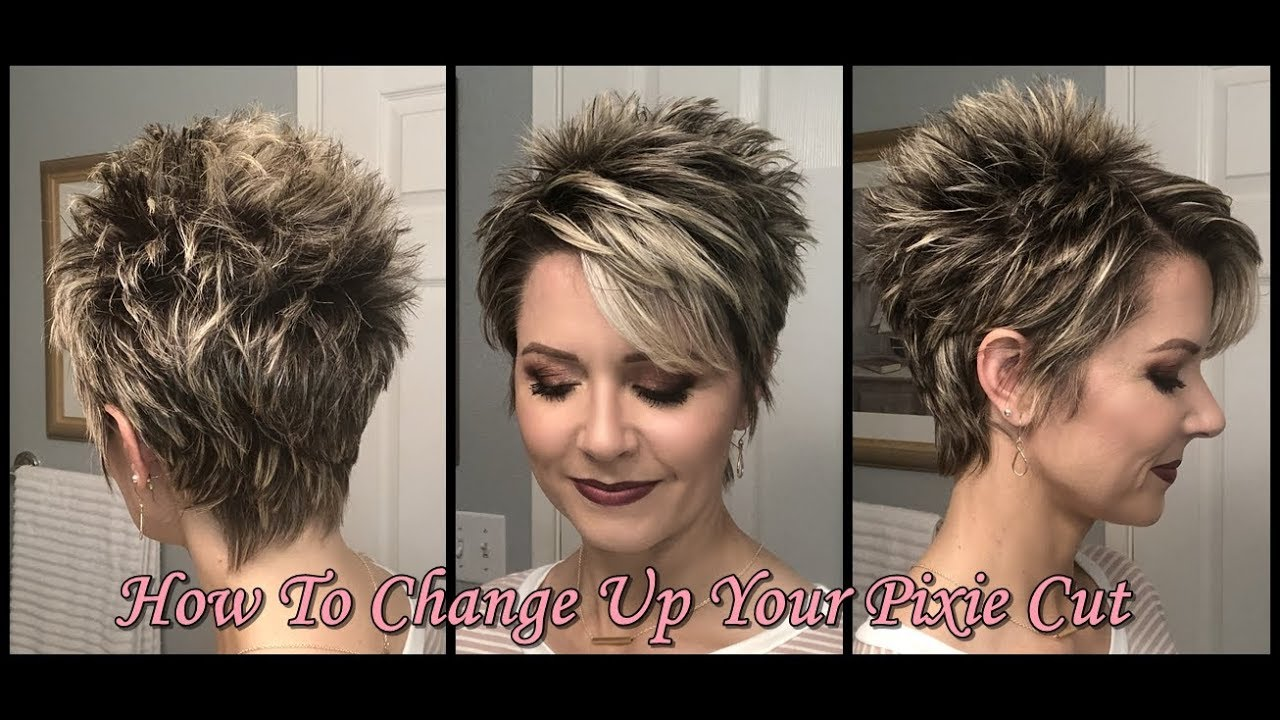 Hair Tutorial Change Up Your Pixie With Spikes Piecey Texture Youtube
