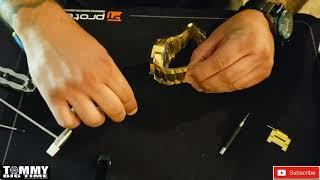 Bracelet Sizing an Overṡized Watch Invicta model #29541