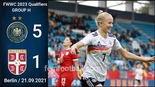 5 1 21 09 2021 Germany vs Serbia FIFA Women World Cup 2023 Qualifiers Group H FWWC2023