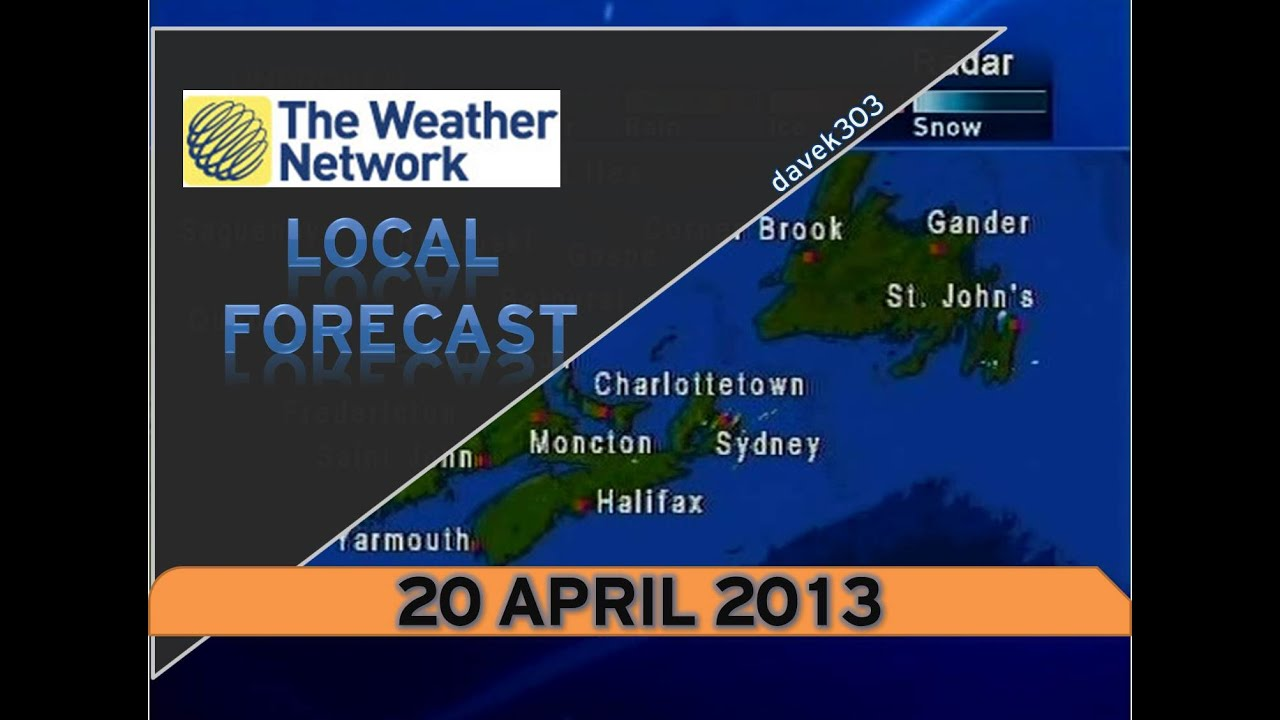 Local Weather Forecast : The weather network local forecast april youtube