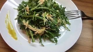 Салат с рукколой в горчично-медовой заправке  Салат за 5 минут