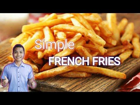 Proses Pembuatan Kentang Goreng (french fries) dari kentang dan siap di pasarkan di Super Market. Pa.