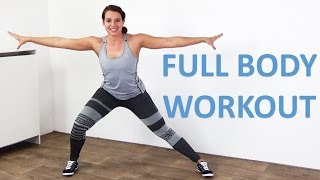 Full Body Workout for Women – 20 Minute Home Exercise – At Home With No Equipment