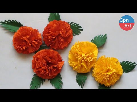 How to Make Marigold Paper Flowers | DIY Paper Craft