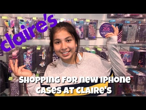 BUYING PHONE CASES FOR MY NEW IPHONE 📱 AT CLAIRE'S