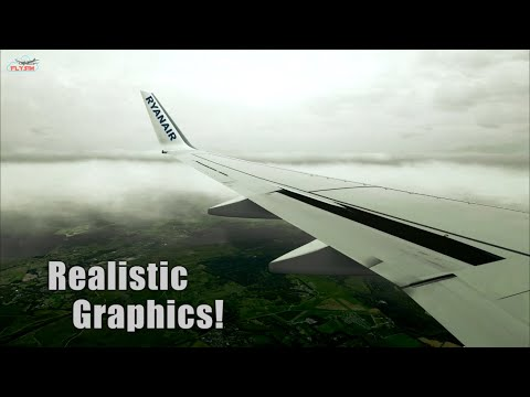 Realistic Graphics - Landing in Southampton Airport l X