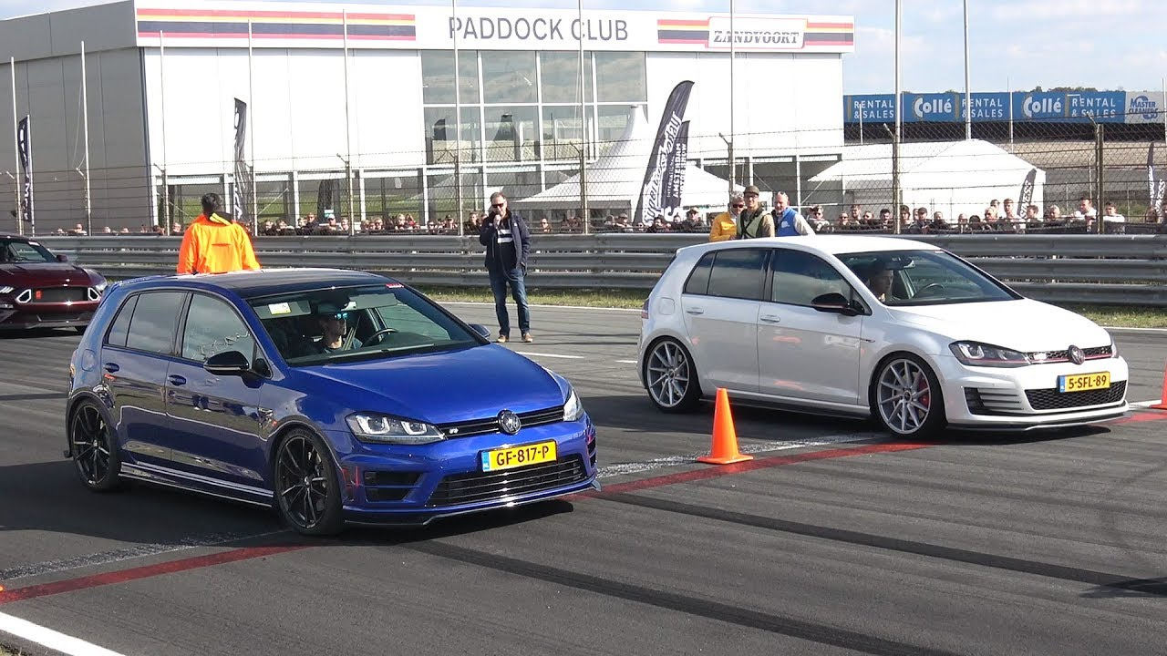 Volkswagen Golf 7 R Vs Golf 7 Gti Clubsport Vs Nissan Gt R Youtube