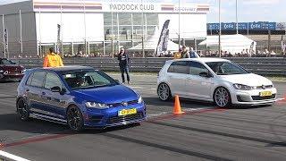Volkswagen Golf 7 R vs Golf 7 GTI Clubsport vs Nissan GT-R