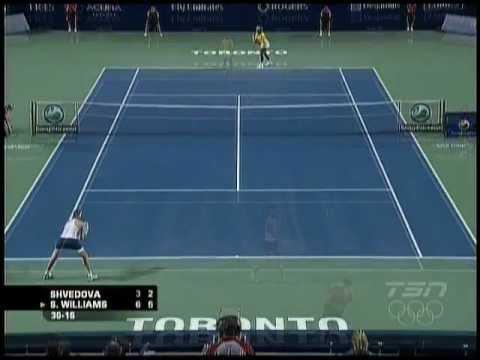 Serena Williams vs Yaroslava Shvedova   2009 Highlights