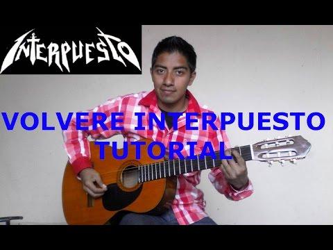 Volvere Interpuesto tutorial de guitarra
