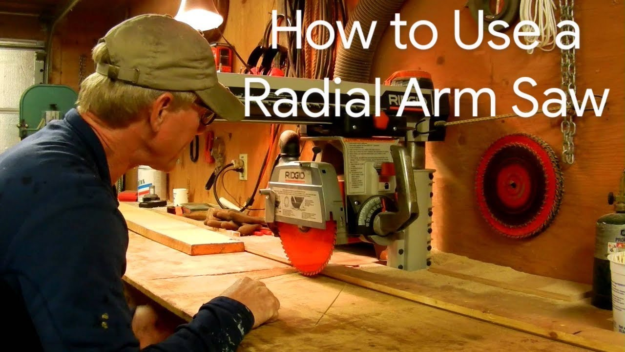 medium resolution of how to use a radial arm saw