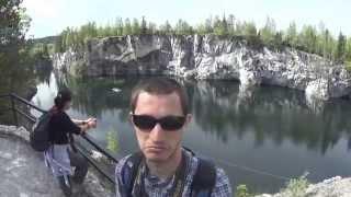 БОМЖ-тур. Глава 4. Мраморный карьер Рускеала и автостоп по безлюдным лесам Карелии