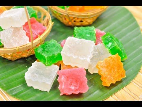 Crispy Jelly (Thai Dessert) – Woon Krob วุ้นกรอบ
